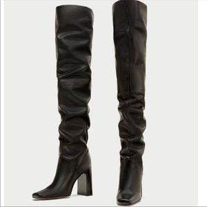 Zara over the knee boots (euro 39) size 8